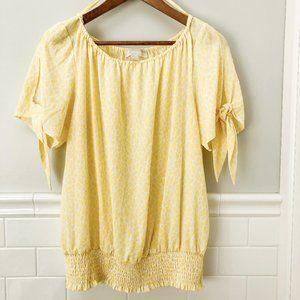 Micheal Kors yellow print top